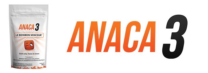 Anaca3 le bonbon minceur: posologie et composition?