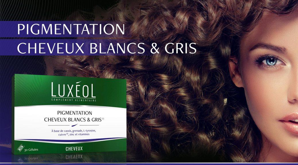 Composition posologie luxeol pigmenattion cheveux blancs et gris