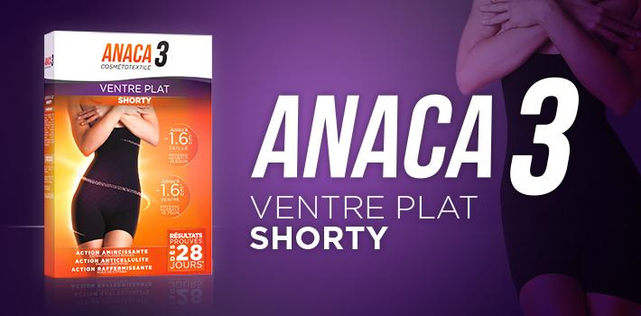 Shorty ventre plat: la nouveauté minceur signé Anaca3
